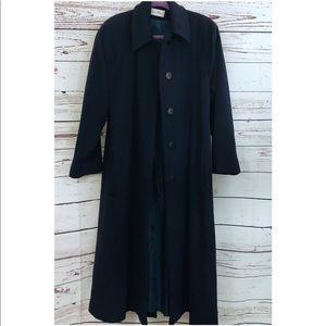 Vintage Christian Dior Navy Long Wool Coat